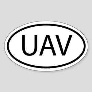 UAV Oval Sticker