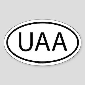UAA Oval Sticker