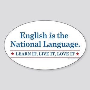 English is the National Langu Oval Sticker