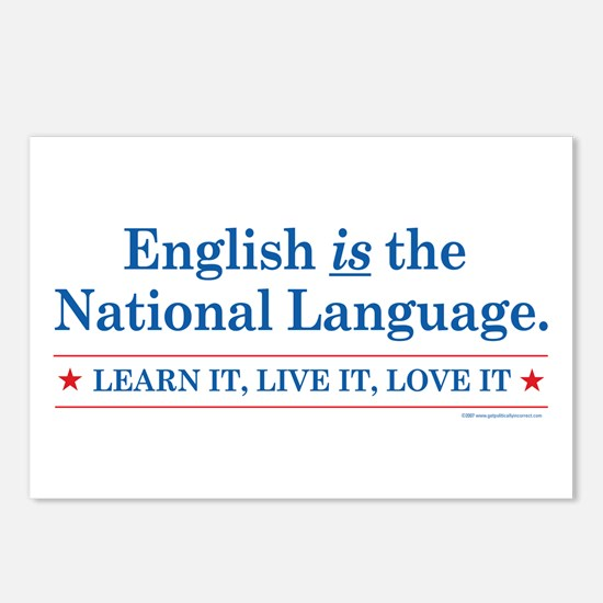 English is the National Langu Postcards (Package o