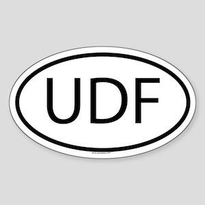 UDF Oval Sticker