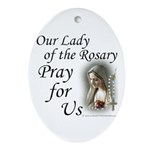 Our Lady of the Rosary Oval Ornament