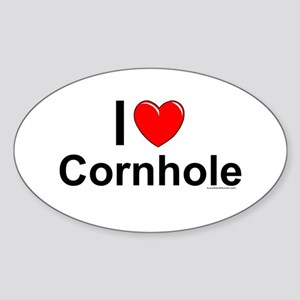 Cornhole Sticker (Oval)