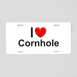 Cornhole Aluminum License Plate