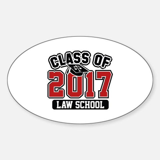 Class Of 2017 Law Sticker (Oval)