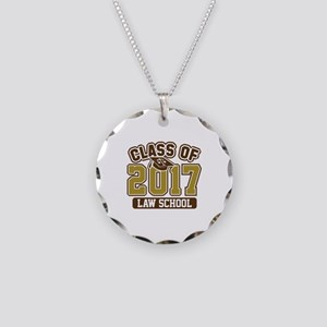 Class Of 2017 Law Necklace Circle Charm