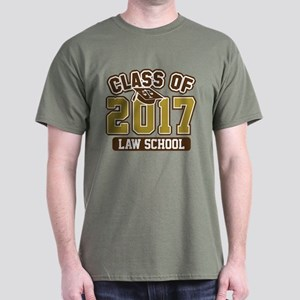 Class Of 2017 Law Dark T-Shirt