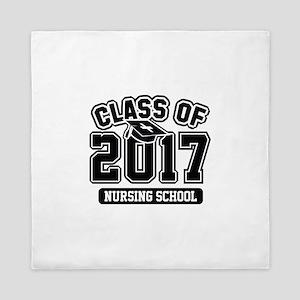Class Of 2017 Nursing Queen Duvet
