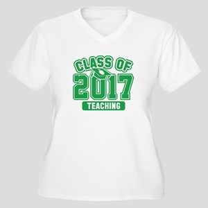 Class Of 2017 Teaching Women's Plus Size V-Neck T-