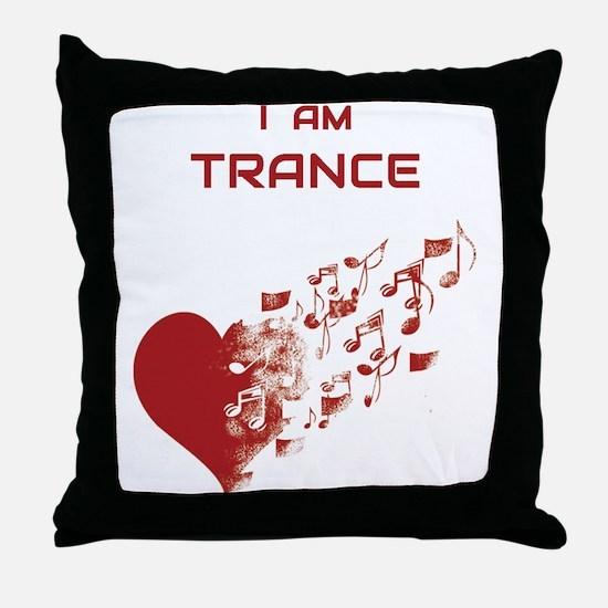 I am Trance Heart Throw Pillow