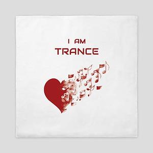 I am Trance Heart Queen Duvet