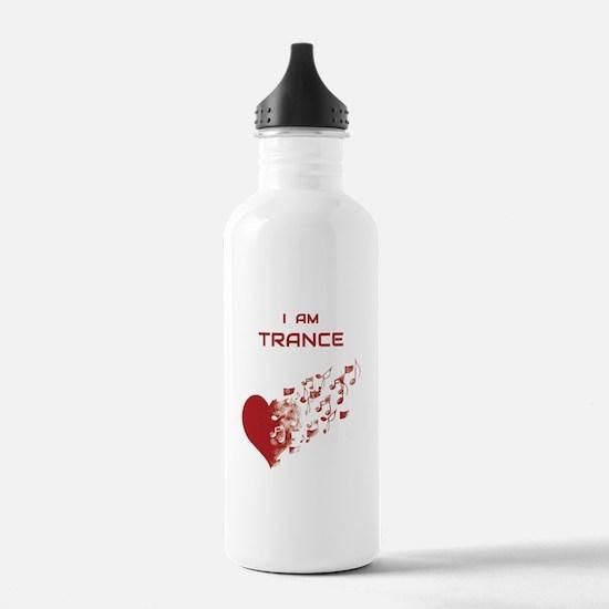 I am Trance Heart Water Bottle