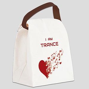 I am Trance Heart Canvas Lunch Bag