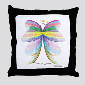 Angel with Wings Throw Pillow