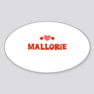 Mallorie Oval Sticker