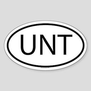 UNT Oval Sticker