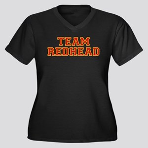 Team Redhead - Red/Gold Women's Plus Size V-Neck D