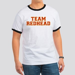 Team Redhead - Red/Gold Ringer T