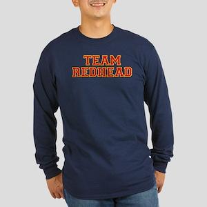 Team Redhead - Red/Gold Long Sleeve Dark T-Shirt