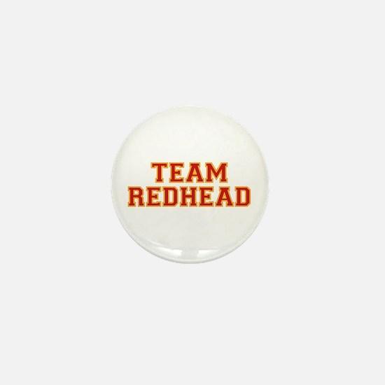 Team Redhead - Red/Gold Mini Button