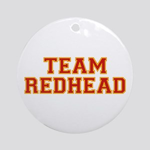Team Redhead - Red/Gold Ornament (Round)