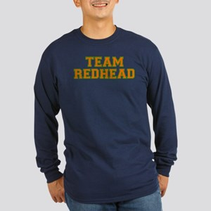 Team Redhead - Orng/Grn Long Sleeve Dark T-Shirt