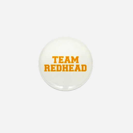 Team Redhead - Orng/Gold Mini Button