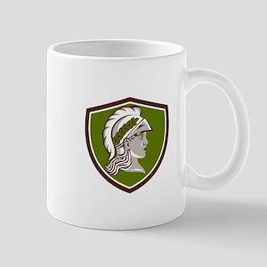 Minerva Head Crest Retro Mugs