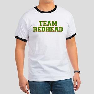 Team Redhead - Grn/Orng Ringer T