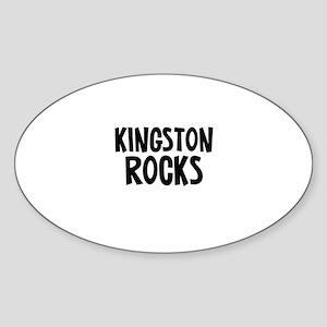 Kingston Rocks Oval Sticker