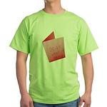 Dear Santa, Fuck Off Green T-Shirt