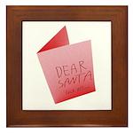Dear Santa, Fuck Off Framed Tile