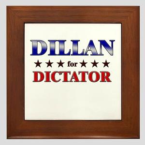 DILLAN for dictator Framed Tile