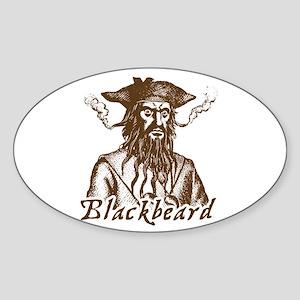 Blackbeard Oval Sticker