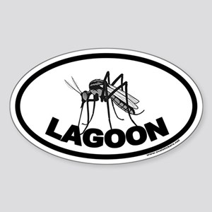 Mosquito Lagoon Euro Style Oval Sticker