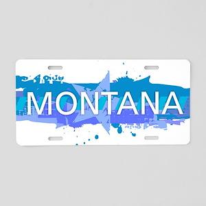 Montana Design Aluminum License Plate