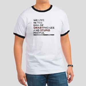 Smartphones Stupid People Dark T-Shirt