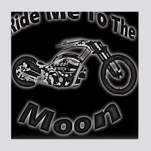 Ride Me To The Moon Tile Coaster