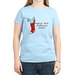 Baby's First Christmas 2007 Women's Light T-Shirt