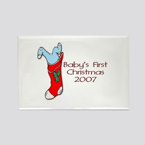 Baby's First Christmas 2007 Rectangle Magnet