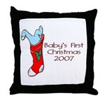 Baby's First Christmas 2007 Throw Pillow