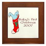 Baby's First Christmas 2007 Framed Tile
