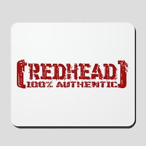 Redhead Tattered - 100% Athntc Mousepad