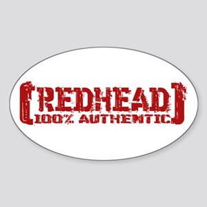 Redhead Tattered - 100% Athntc Oval Sticker