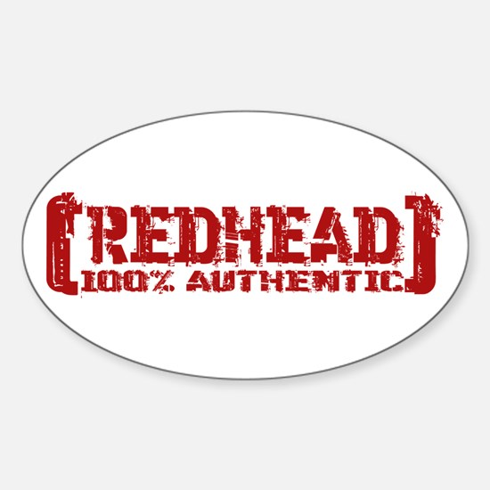 Redhead Tattered - 100% Athntc Oval Decal