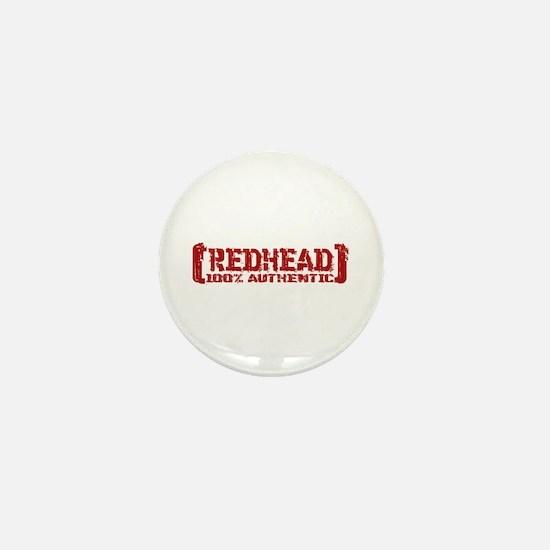 Redhead Tattered - 100% Athntc Mini Button