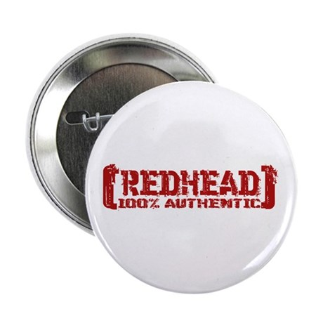 """Redhead Tattered - 100% Athntc 2.25"""" Button"""