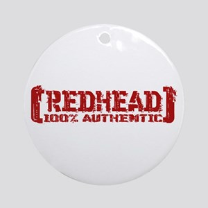 Redhead Tattered - 100% Athntc Ornament (Round)