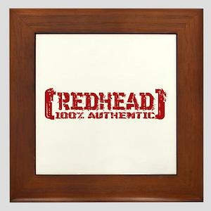 Redhead Tattered - 100% Athntc Framed Tile