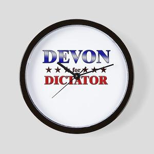 DEVON for dictator Wall Clock